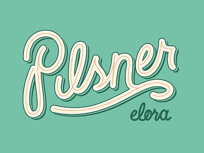 Pilsner Elora Handlettering package design brand logo hand lettering handdrawn type typography art elora pilsner beer sign font script hand drawn hand lettered hand letter typogaphy blake stevenson jetpacks and rollerskates illustration