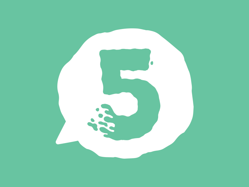 5 Not So Creative Questions  jetpacks and rollerskates toronto 5 number bubble blog kids illustration cute slime speech bubble logo illustration