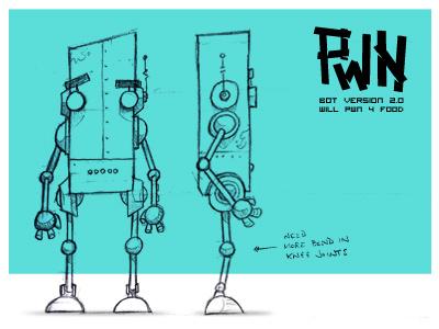 Robot Character Design robot sketch character sketch illustration cartoon drawing blake stevenson jetpacks and rollerskates