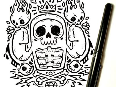 Hipster Skull T-Shirt Sketch diamond skateboard jetpacks and rollerskates tattoo classic street art skull 80s illustration