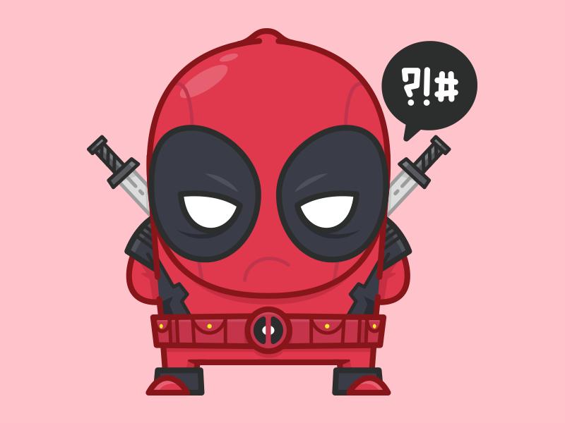 DEADPOOL sticker sticker merc jetpacks and rollerskates deadpool superhero comic book marvel illustration