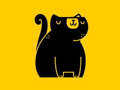 Simple Cat Icon sketch childrens illustration kitty jetpacks and rollerskates icon kitten logo design simple cat illustration