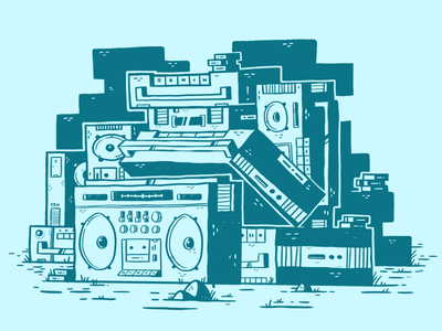 Stack of Boomboxes