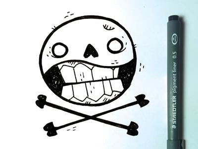 Another skull and crossbones crossbones bones skateboard jetpacks and rollerskates tattoo classic street art skull illustration