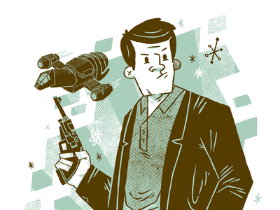 Oh captain, my captain - Firefly tribute print blake stevenson. jetpacks and rollerskates costume television cult character design browncoat space firefly illustration
