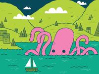 Octopus Beer Label