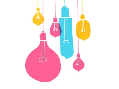 Lights overlay simple blake stevenson jetpacks and rollerskates silkscreen printmaking handmade lights illustration
