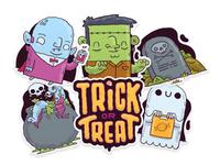 Trick or Treat Halloween Sticker Pack