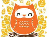 Woodcut owl