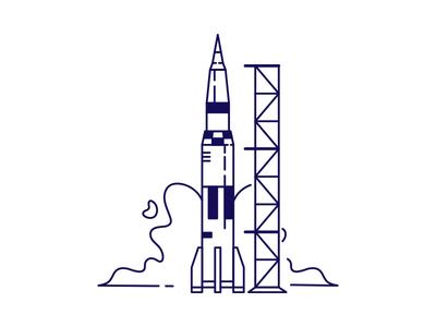 Monoline rocket ship
