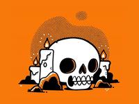 Skull abd Candles