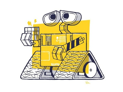 Licensed Pixar WALLE print