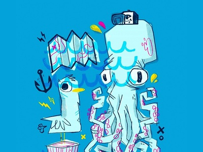 Octopus Bird Sketch