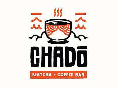 Chado Matcha + Coffee Bar matcha asian tea coffee handmade hand lettering typography branding vector hipster retro cute blake stevenson illustration logo chado