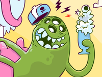 Milkshake drinkin' hipster space pickle