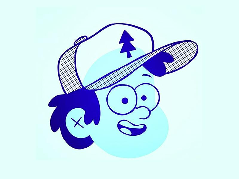 Dipper (Gravity Falls) ipad pro disney world 80s cartoon retro disney art hipster gravity falls disney character design blake stevenson jetpacks and rollerskates illustration