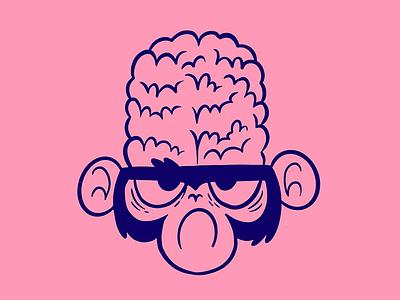 Mojo Jojo (Powerpuff Girls) brain television kids jetpacks and rollerskates jetpacksandrollerskates blake stevenson thick lines bold lines monkey mojojojo powerpuff girls hipster retro cartoon character design cute illustration
