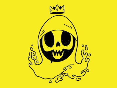 Gloopy Skull with a Crown