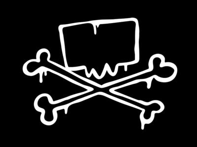 JxR sloppy skull logo