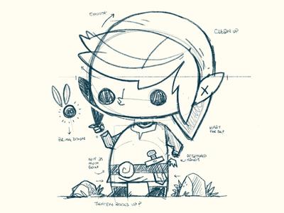 Zelda's Link sketch