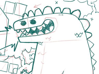 Godzilla Process Sketch