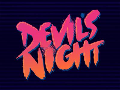 devils night 80s type