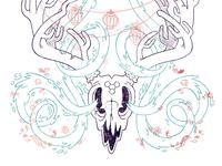 Surreal Deer Skull Magic