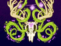 Weird Deer Skull Surreal Thing