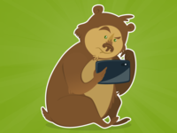 The bear with its tablet