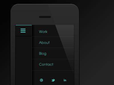 Mobile Navigation dark black mobile navigation ios