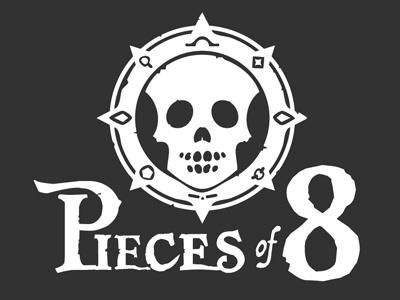 8 Pieces skulls dark pirate