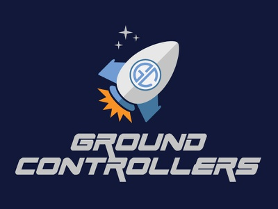 Ground Controllers Logo 3 outer space space rockets rocket