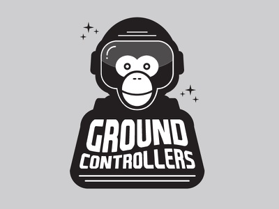 Ground Controllers Logo 1 space outer space monkey space monkey