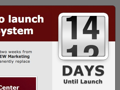 14 Day Email email dark countdown