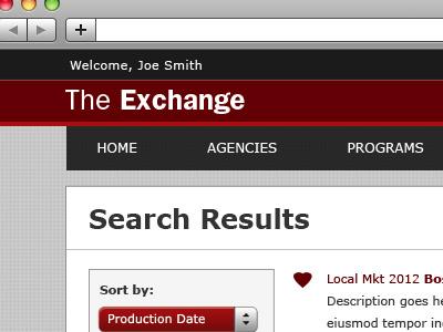 The Exchange UI clean ui
