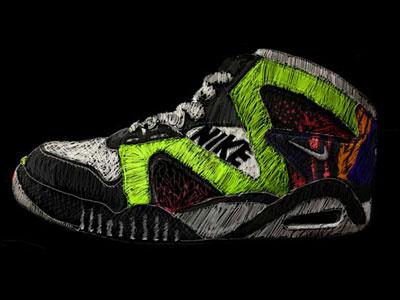 Sneaker portrait dark
