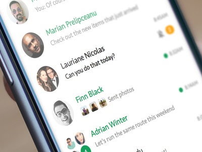 Google Hangout Material Redesign Concept chat ios material concept app mobile clean hangout google redesign ux ui