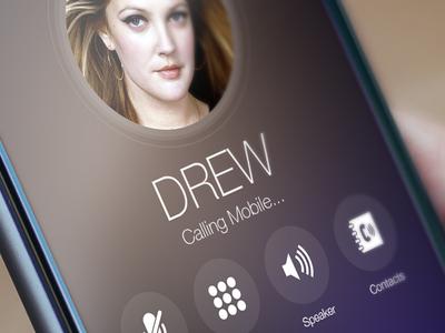iOS Calling Screen Redesign concept app creative ios ux ui redesign