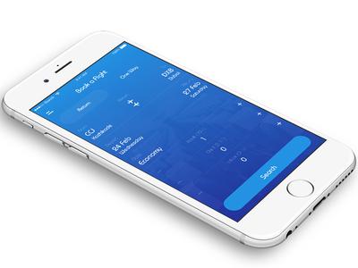 IndiGo Airline iOS App Redesign Concept flight booking ios interaction concept app clean indigo redesign ux ui