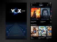 Movie ticket booking UI