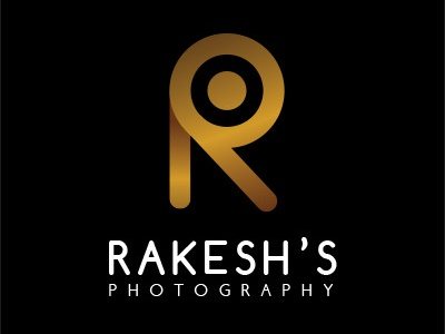 Logo for Rakesh's Photography luxury illustration design ui revamped logo