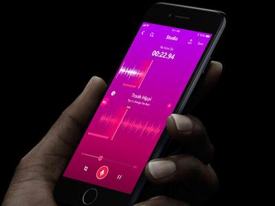 Audio Mixer 1.0 redesign ux ui app ios colorful editing music mixing audio