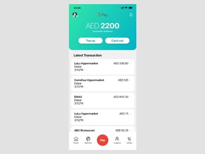 Pay App Concept UI creative interaction design concept redesign ios app clean ux ui