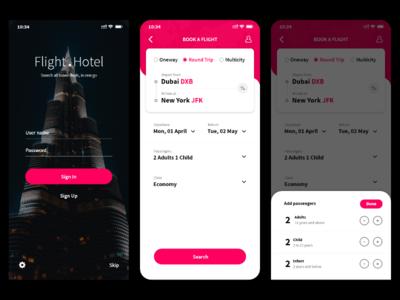 Flight Booking App Concept UI illustration flat booking creative interaction design concept redesign ios clean app ux ui