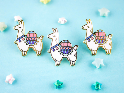 Alpaca Adventures Enamel Pin