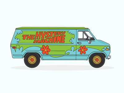 Mystery Machine scooby snack zoinks jinkies illustration cartoon mystery machine scooby doo van