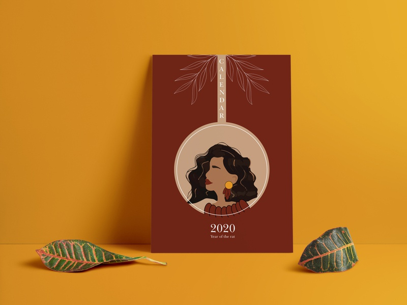 2020 Calendar Illustrations Design