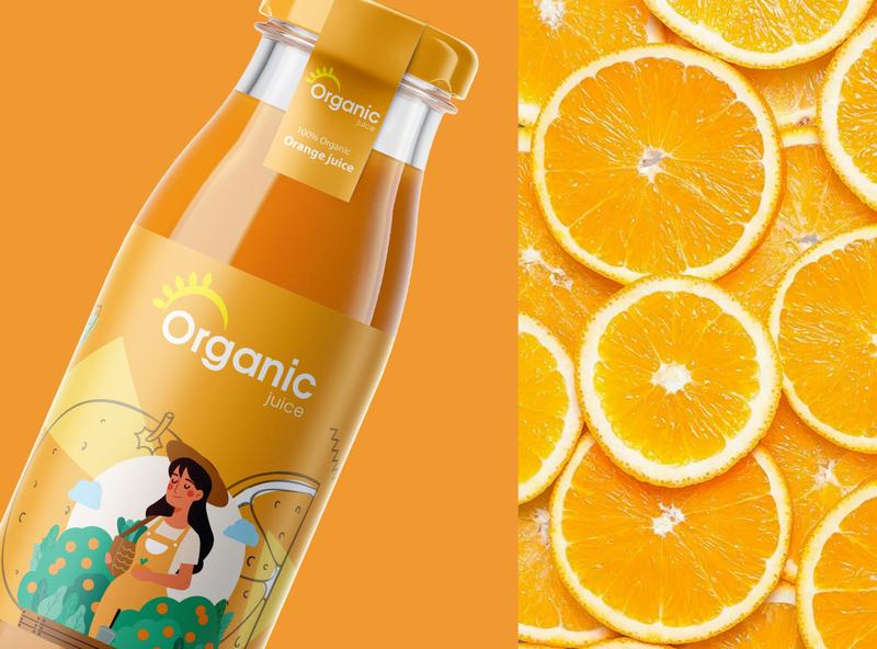 Organic Juice Packaking Design