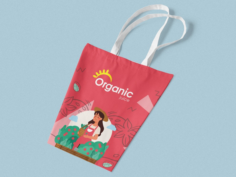 Organic Juice Packaking Design