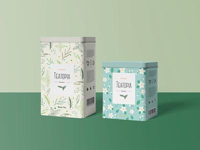 Teatopia Tea Packaking Design teapackaking packaking tealogo tea logotype logo illustration design creative